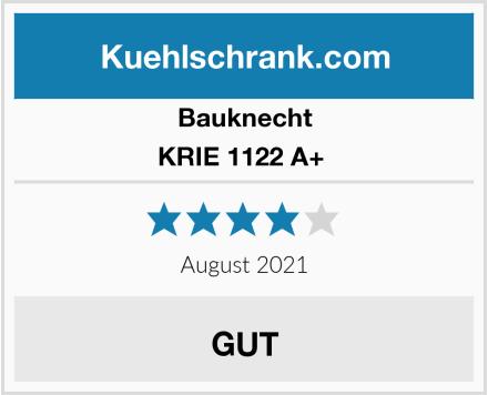 Bauknecht KRIE 1122 A+  Test