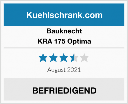 Bauknecht KRA 175 Optima Test