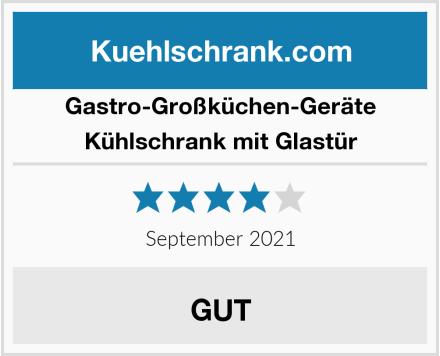 Gastro-Großküchen-Geräte Kühlschrank mit Glastür Test