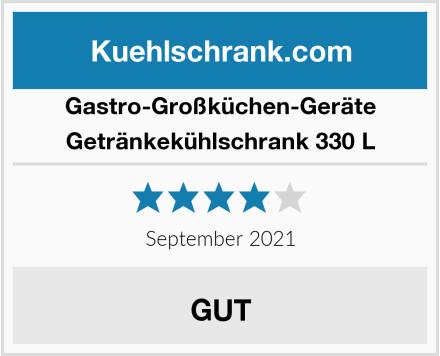 Gastro-Großküchen-Geräte Getränkekühlschrank 330 L Test