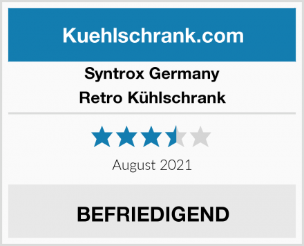 Syntrox Germany Retro Kühlschrank Test