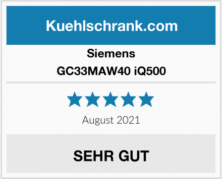 Siemens GC33MAW40 iQ500 Test