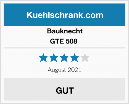Bauknecht GTE 508  Test