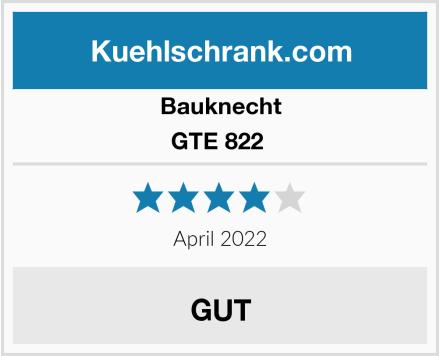 Bauknecht GTE 822  Test