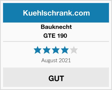 Bauknecht GTE 190  Test