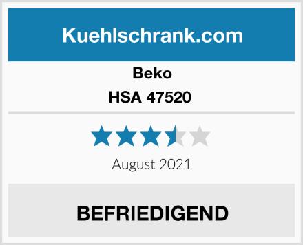 Beko HSA 47520  Test