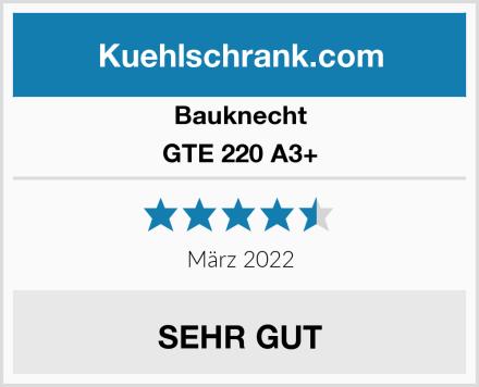 Bauknecht GTE 220 A3+ Test