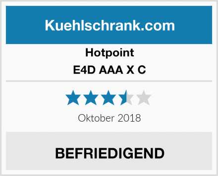 Hotpoint E4D AAA X C Test