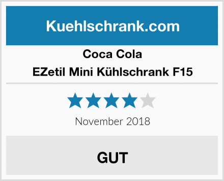 Coca Cola EZetil Mini Kühlschrank F15 Test
