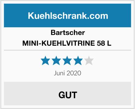 Bartscher MINI-KUEHLVITRINE 58 L  Test
