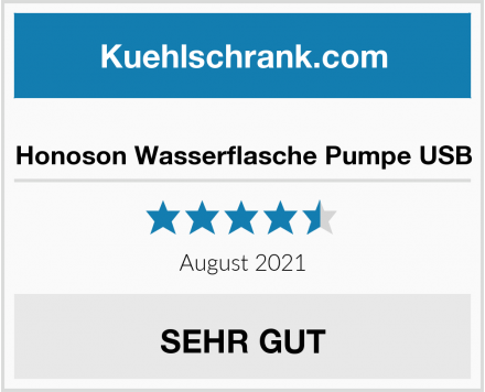 Honoson Wasserflasche Pumpe USB Test