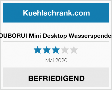 OUBORUI Mini Desktop Wasserspender Test