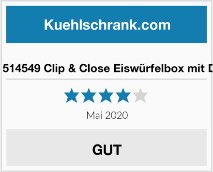 Emsa 514549 Clip & Close Eiswürfelbox mit Deckel Test