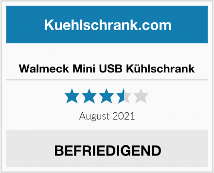 Walmeck Mini USB Kühlschrank Test