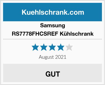 Samsung RS7778FHCSREF Kühlschrank Test