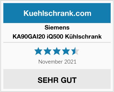 Siemens KA90GAI20 iQ500 Kühlschrank Test