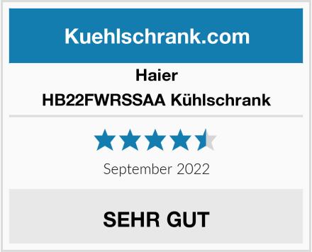 Haier HB22FWRSSAA Kühlschrank Test