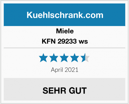 Miele KFN 29233 ws Test