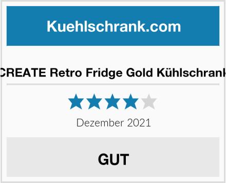CREATE Retro Fridge Gold Kühlschrank Test