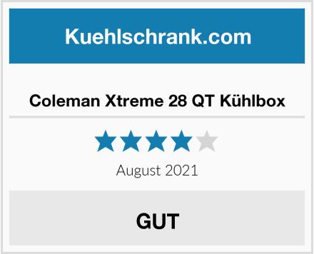 Coleman Xtreme 28 QT Kühlbox Test