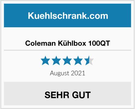 Coleman Kühlbox 100QT Test