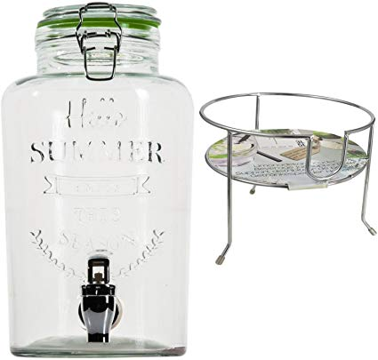 No Name esto24 Hochwertiger Getränkespender aus Glas
