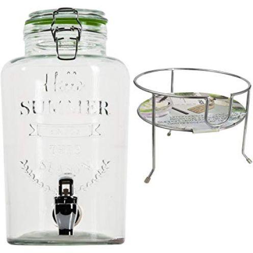 esto24 Hochwertiger Getränkespender aus Glas