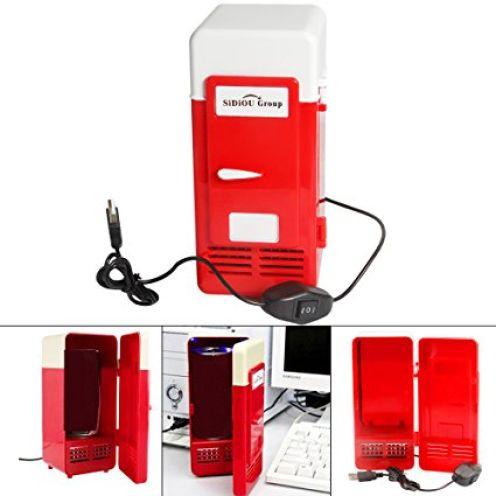 Sidiou Group USB Kühlschrank rot